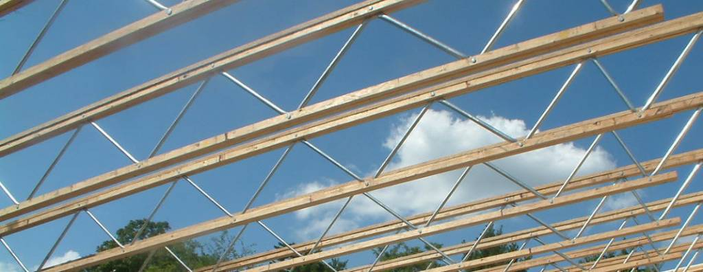 roof supports during construction of St Stephens Community Center