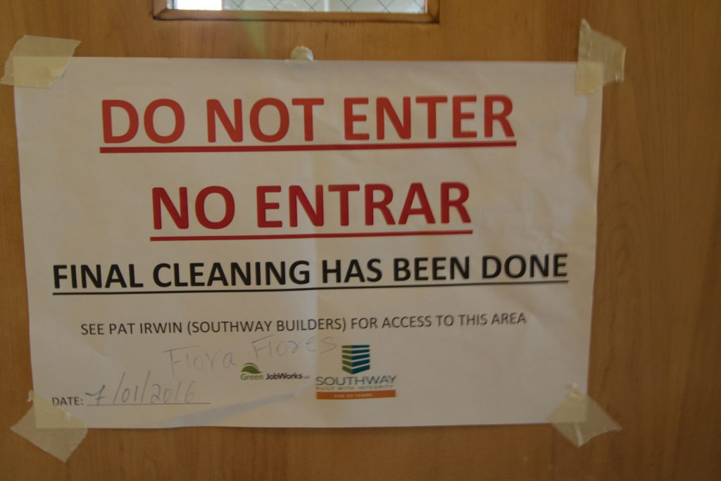 do not enter-final cleaning
